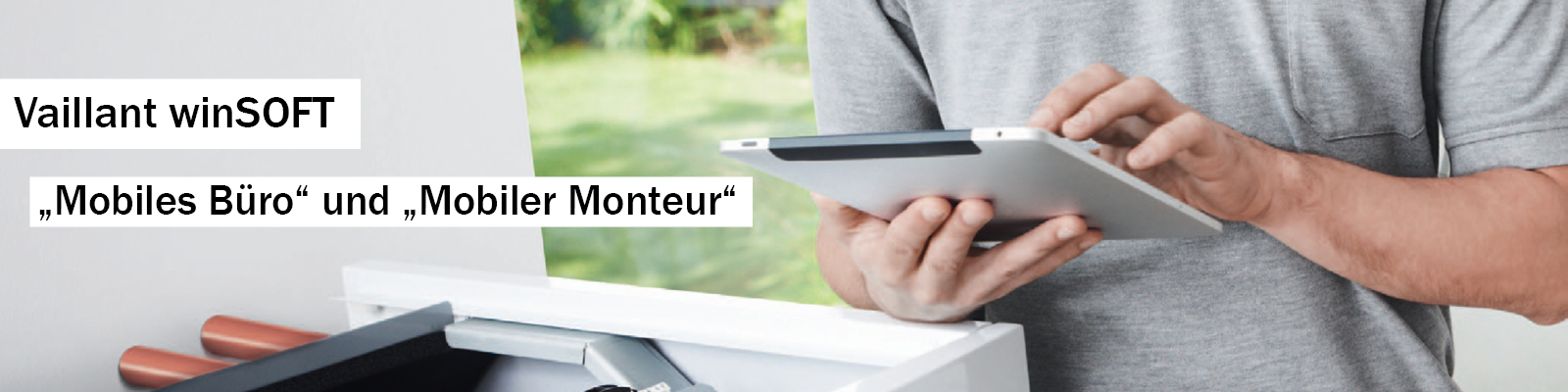 mobiler Monteur und mobiles Büro